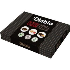 Diablo Konfekteske med 3 Deilige Smaker 115 gram - Uten Tilsatt Sukker