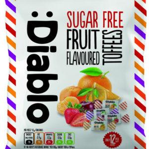 Diablo Sukkerfri Karameller med Forskjellige Fruktsmaker 75 gram