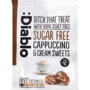 Diablo Sukkerfri Sukkertøy med Cappuccino- og Kremsmak 75 gram