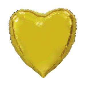 Folieballong Hjerte Gull 90 cm