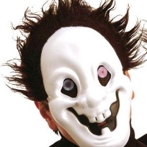 Freaky Eyes - The Crazy One - Maske med Hår