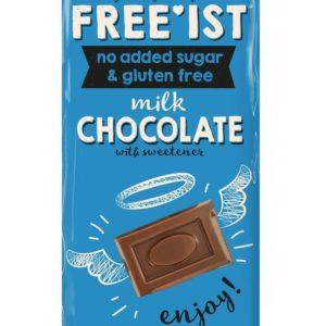 Free'ist Melkesjokolade Uten Tilsatt Sukker 75 gram