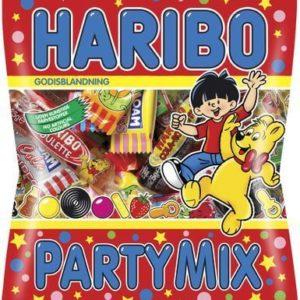 Haribo Partymix Pose med Forskjellig Godteri 250 gram