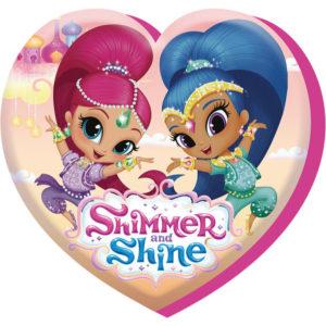 Hjerteformet Shimmer and Shine Pyntepute 37x40 cm