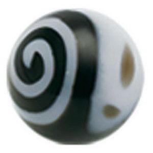 Hypnotize Me Black - 3 mm Akrylkule til 1,2 mm stang