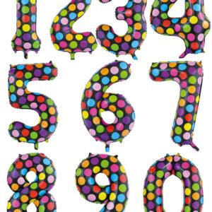 JUMBO Polka Dots Tallballonger 0-9 - 86 cm