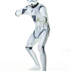 """Lisensiert Stormtrooper Star Wars - Orginal Morphsuit Kostyme med """"ZAPPAR"""" Funksjon"""