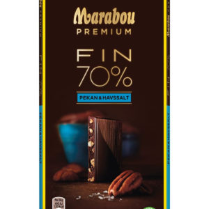 Marabou Premium Fin 70% Kakao Sjokoladeplate med Pekan og Havsalt 100 gram