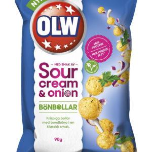 OLW Bønneboller med Sourcream & Onion Smak 90 gram - Vegansk