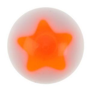 Stjerne Orange - Hvit Akrylkule