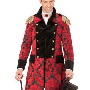 Svart og Rød Jacquard Kostymejakke til Herre