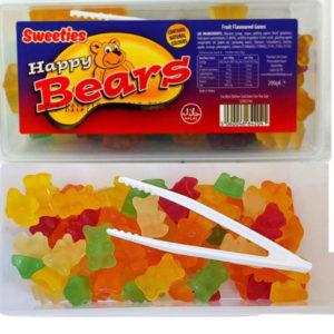 Sweeties Happy Bears / Boks med Vingummi Bjørner 200 gram