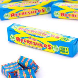 Swizzels Refreshers Chew Blocks med Sitronsmak 43 gram