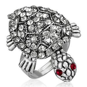 Wiggling Turtle - Sølvfarget Ring